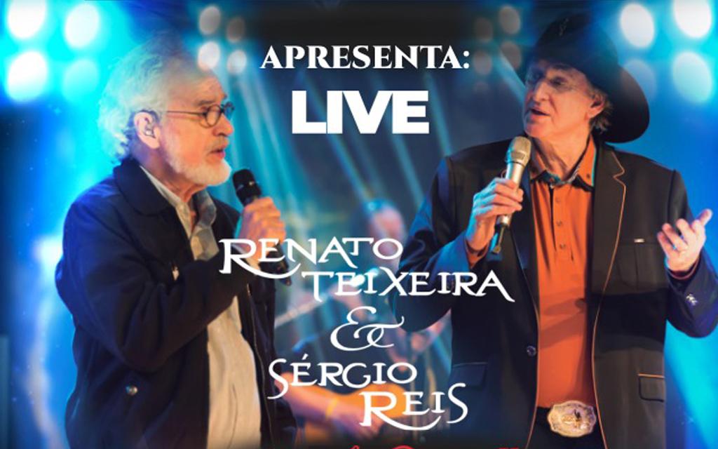 #LiveAmizadeSincera: Sérgio Reis e Renato Teixeira participam de show on-line