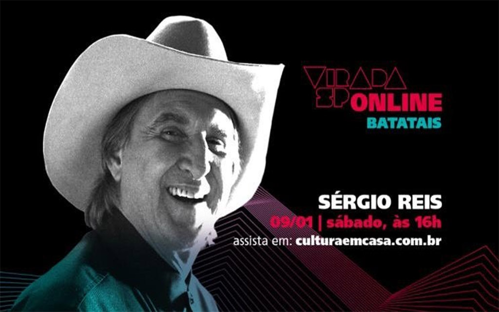 Cantor Sérgio Reis participa da Virada SP – edição online