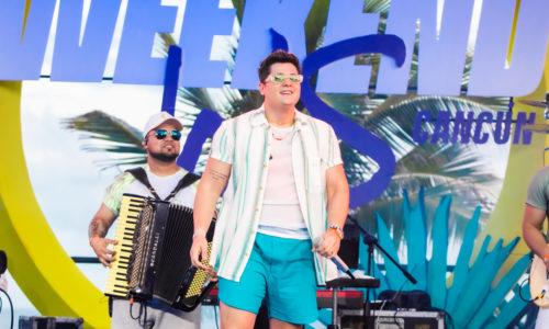 Eric Land agita o público na última noite de shows do projeto Weekend WS